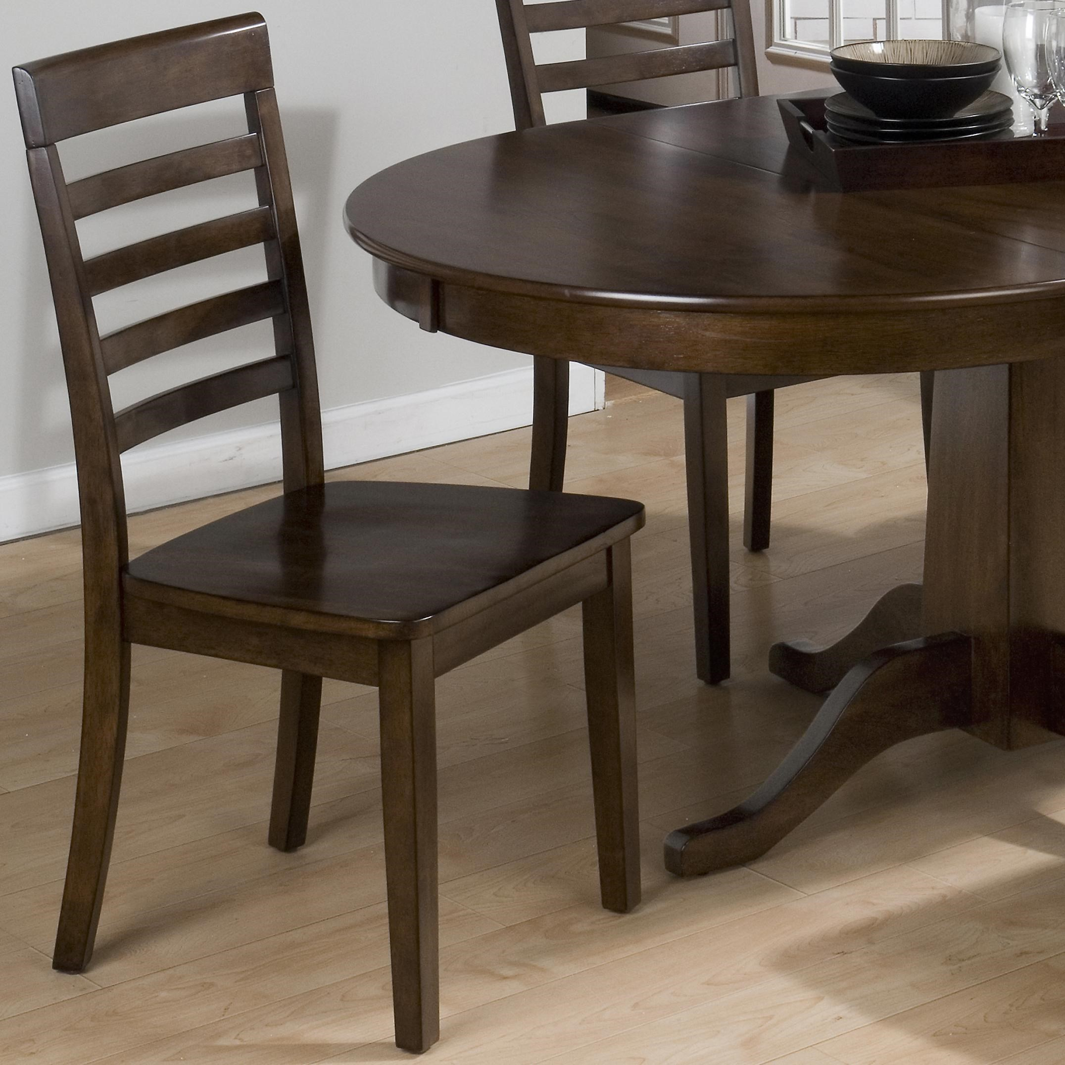 Taylor Cherry Five Slat Ladderback Chair With Wood Seat By Jofran