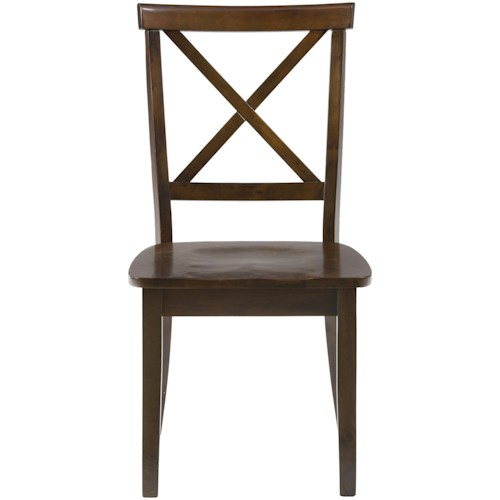 Jofran Taylor Cherry X Back Chair with Wood Seat