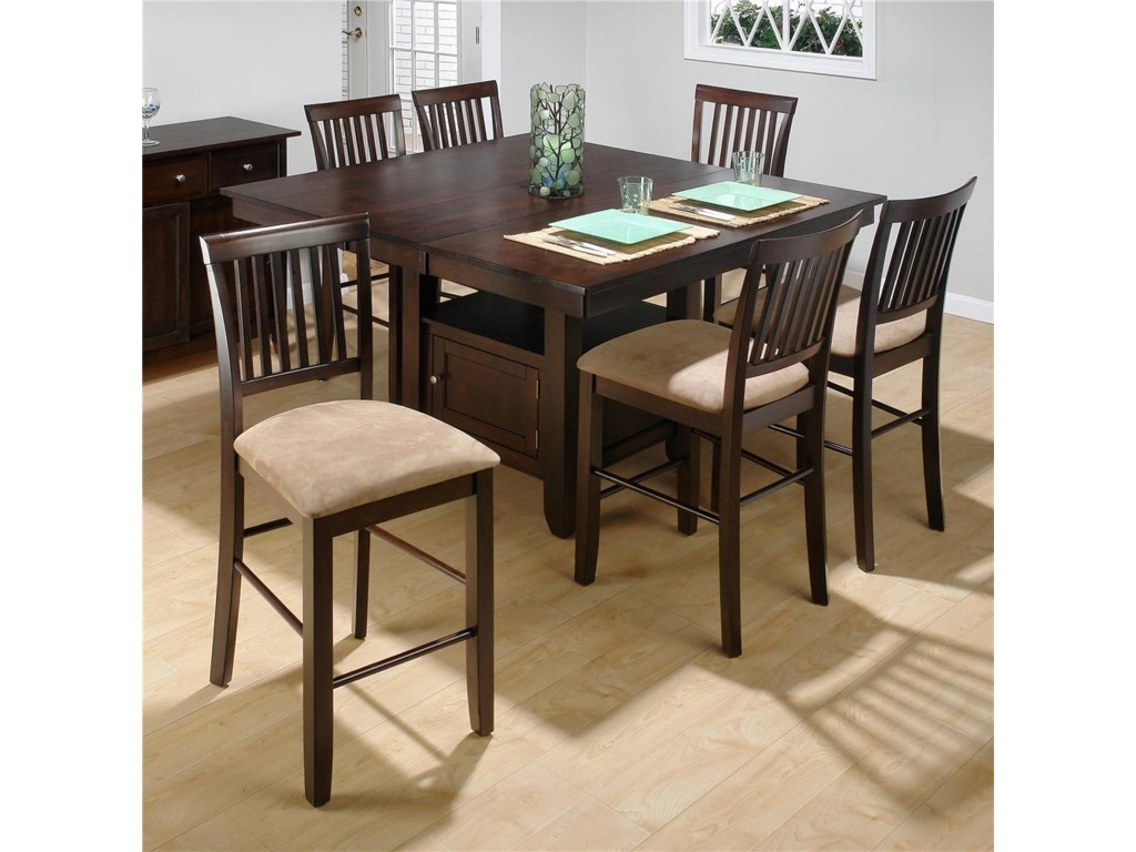 Jofran Bakery's CherryCounter Height Table and (6) Stools Set