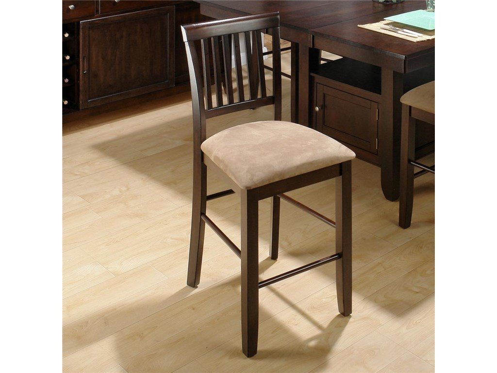 Jofran Bakery's CherrySlat Back Counter Height Stool
