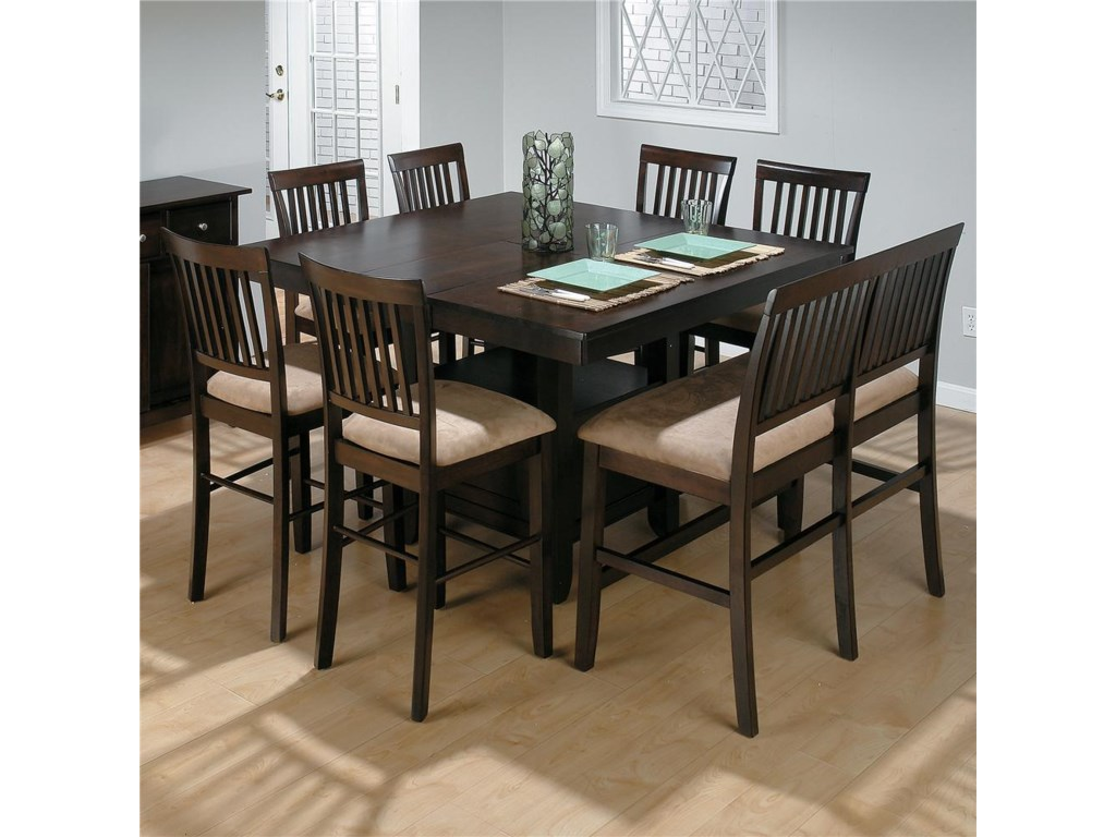 Shown with Slat Back Counter Height Stools and Counter Height Table w/ Butterfly Leaf