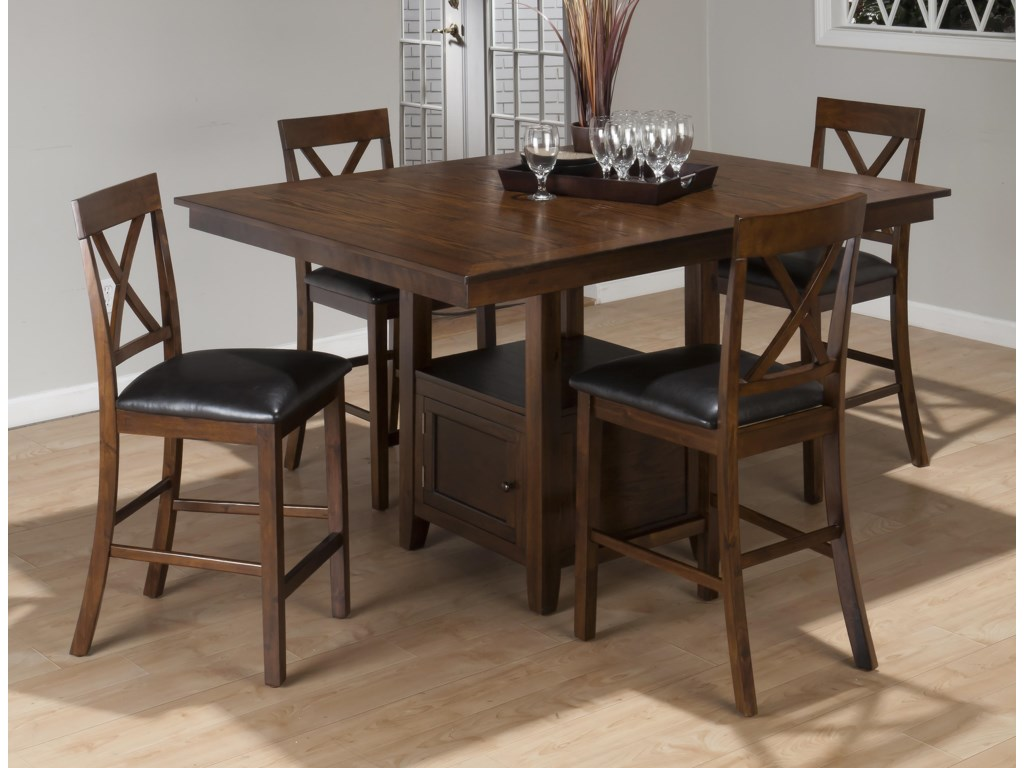 Jofran Olsen Oak5-Piece Counter Height Dining Set
