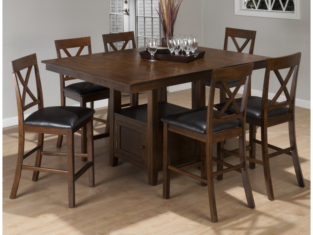 Jofran Olsen Oak7 Piece Counter Set