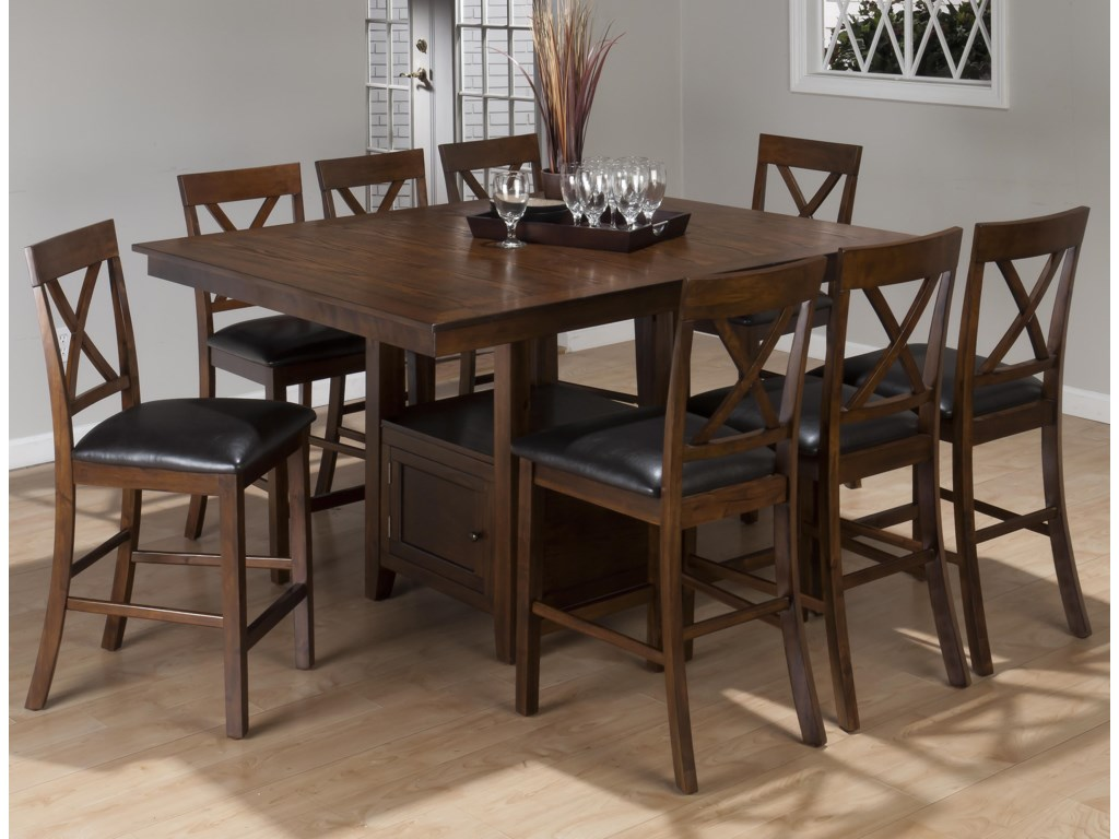 Jofran Olsen Oak9-Piece Counter Height Set