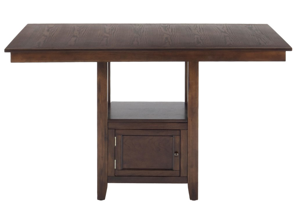 Jofran Olsen OakCounter Height Table with Storage Base