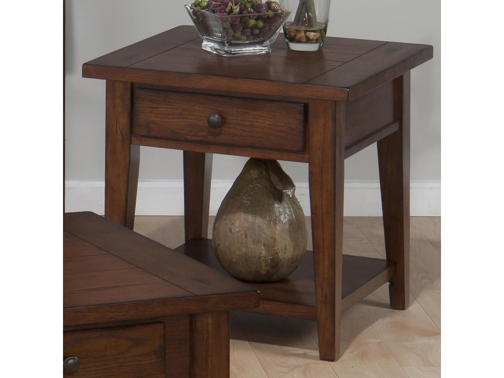 Jofran Clay County OakSquare End Table