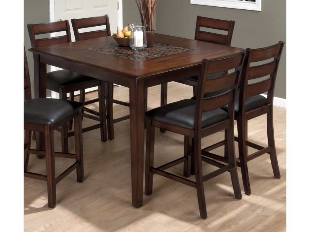 Jofran Baroque Brown5 Piece Counter Height Dining Set