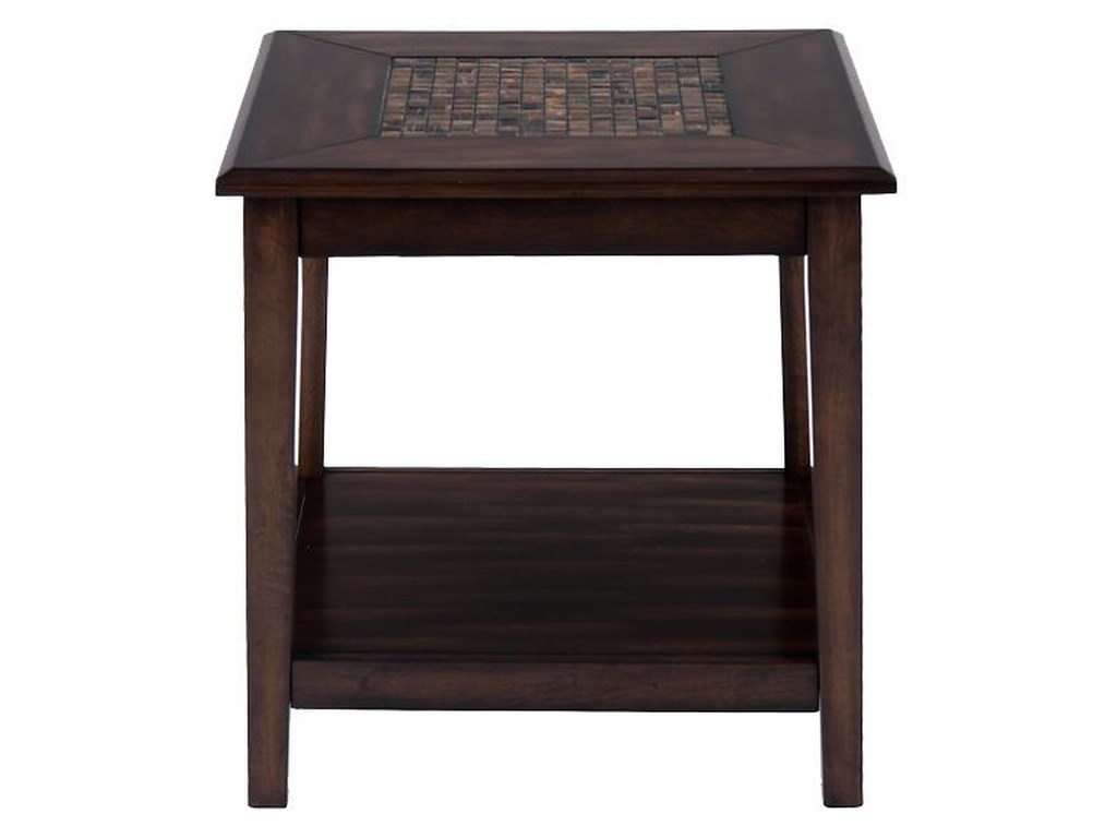 Jofran Baroque BrownCog Hill End Table