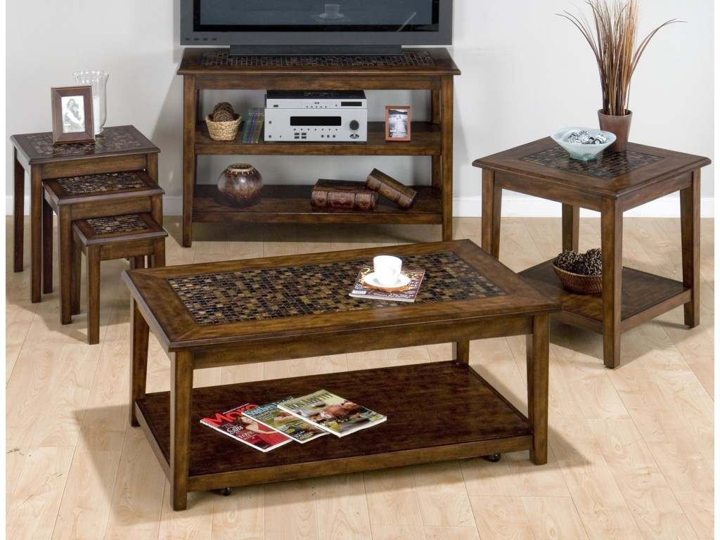 Shown with Coordinating Collection Sofa Table, Cocktail Table and End Table