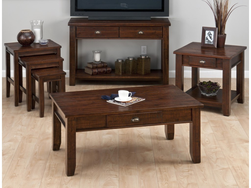 Jofran Urban Lodge BrownCocktail Table w/ Drawer