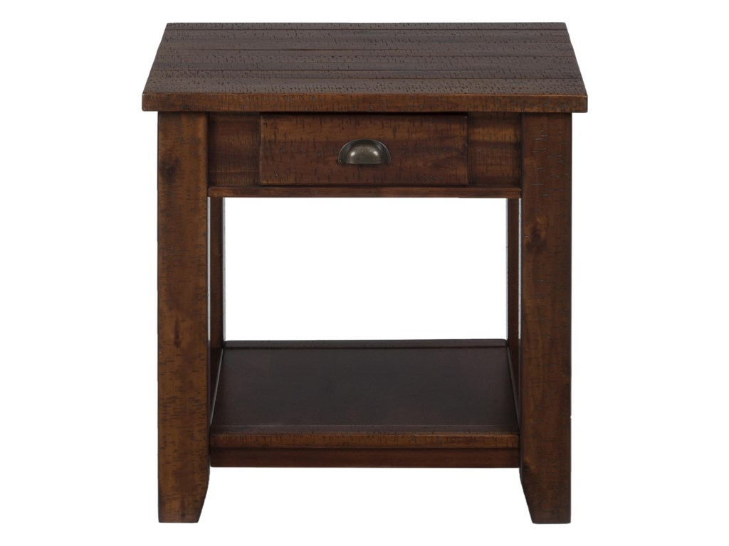 Morris Home Furnishings Pacific LanePacific End Table w/ Drawer and Shelf