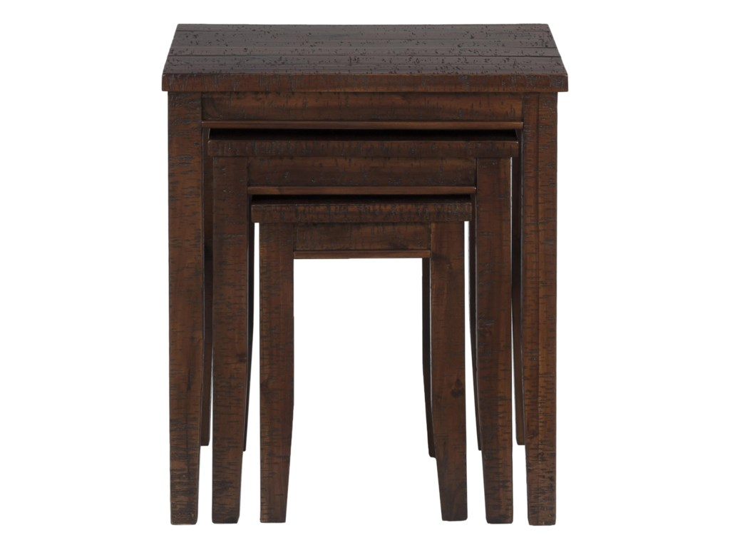 Jofran Urban Lodge Brown3 Nesting Chairside Table