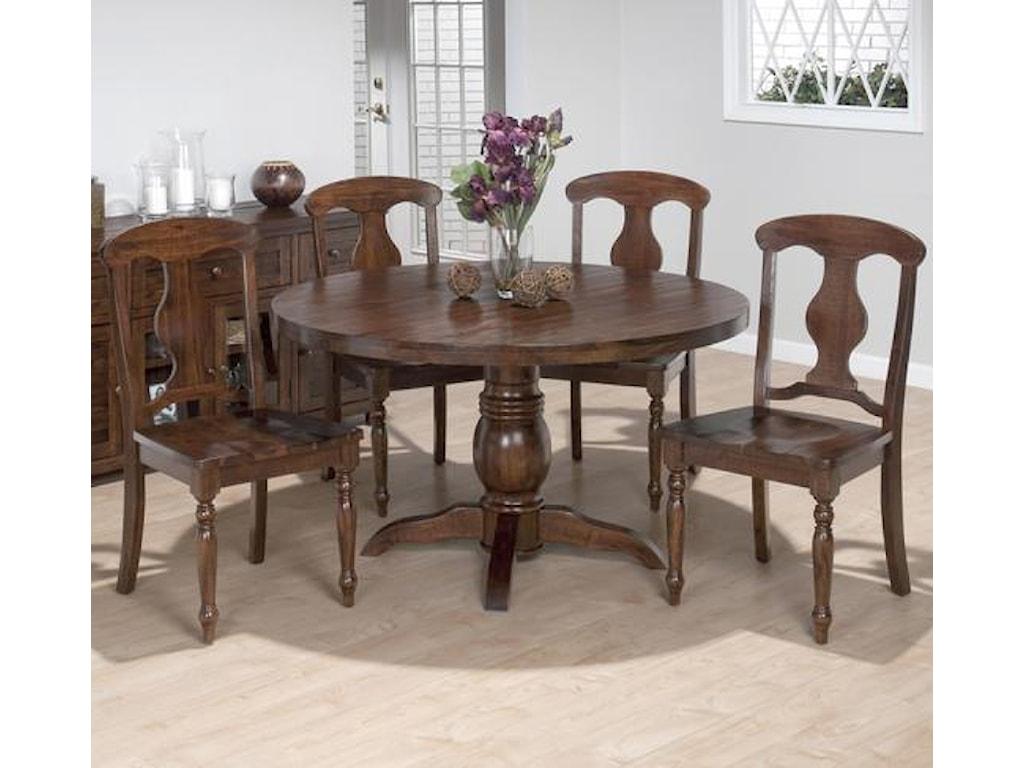 Jofran Urban Lodge5 Piece Dining Set with Napoleon Chairs