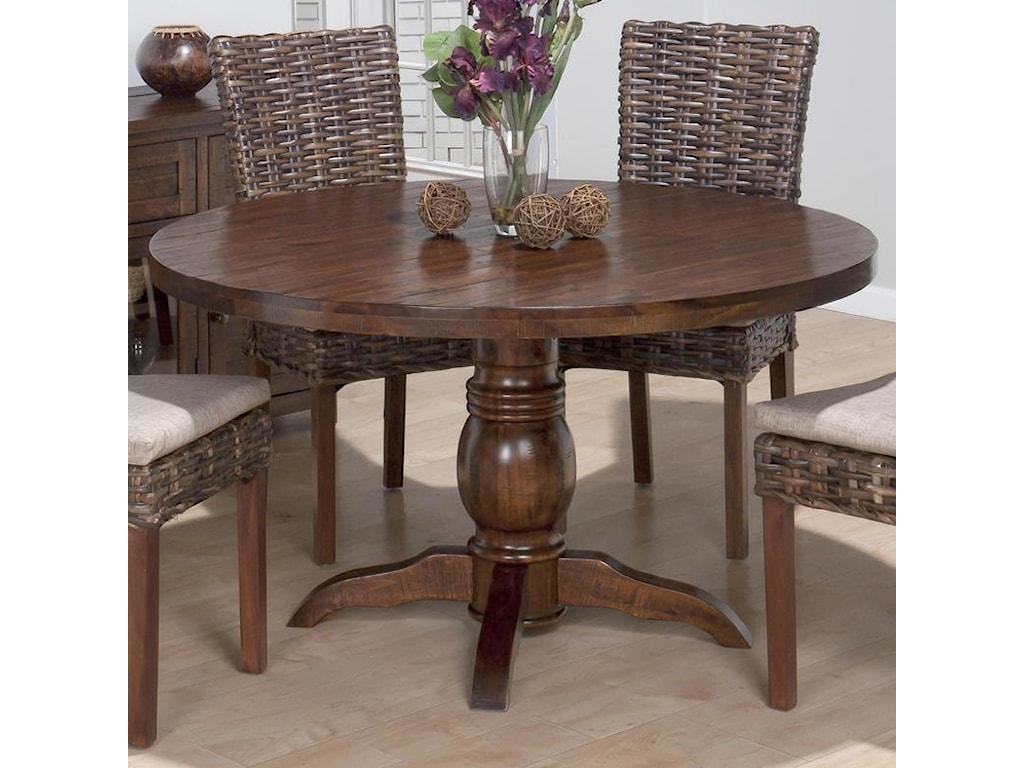 Jofran Urban LodgeRustic Hewn Pedestal Table