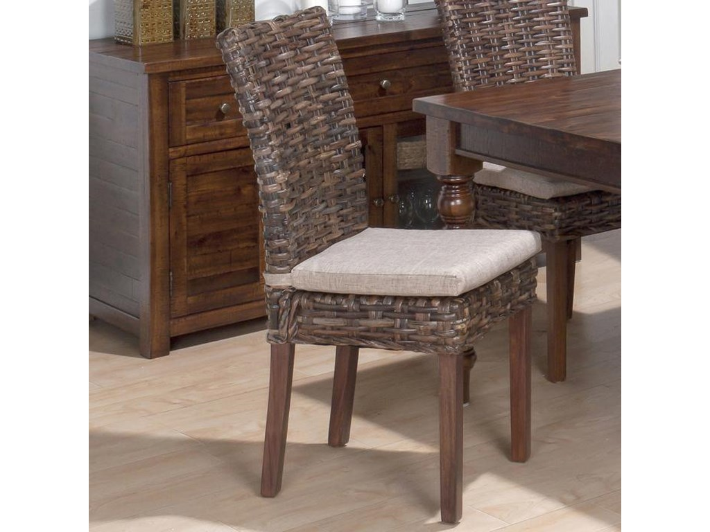 Jofran Urban Lodge7 Piece Dining Set with Rattan Chairs