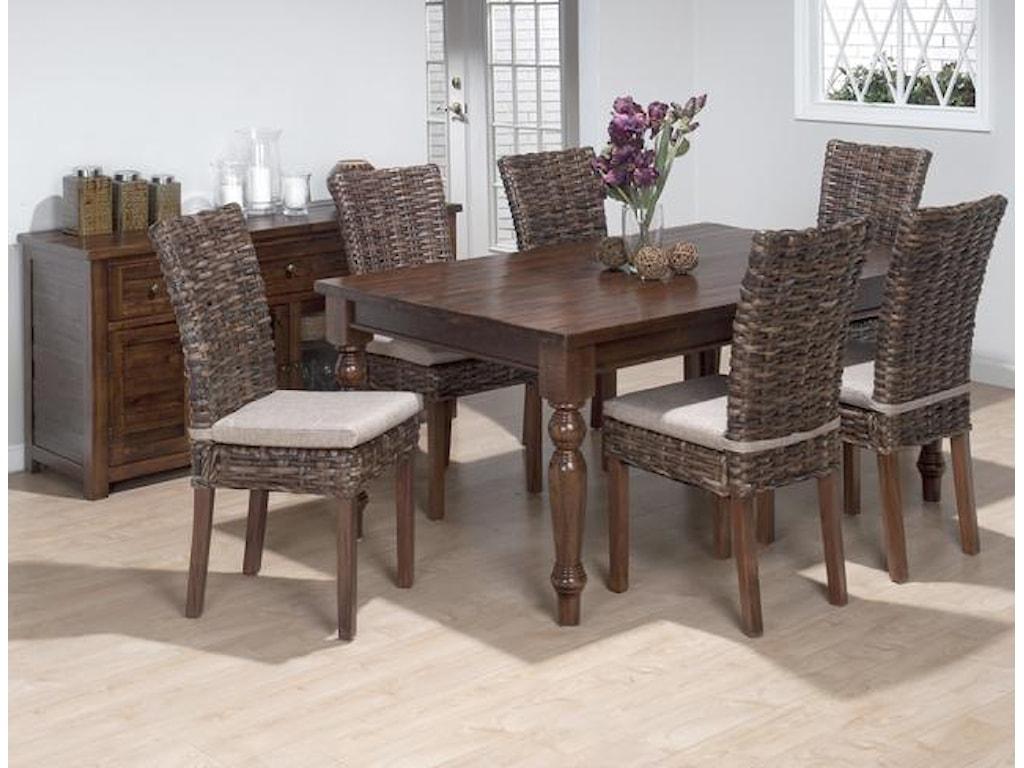 Jofran Urban LodgeRustic Hewn Rectangular Table