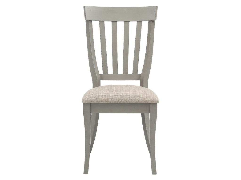 Jofran Pottersville Antique GreySlat Back Side Chair