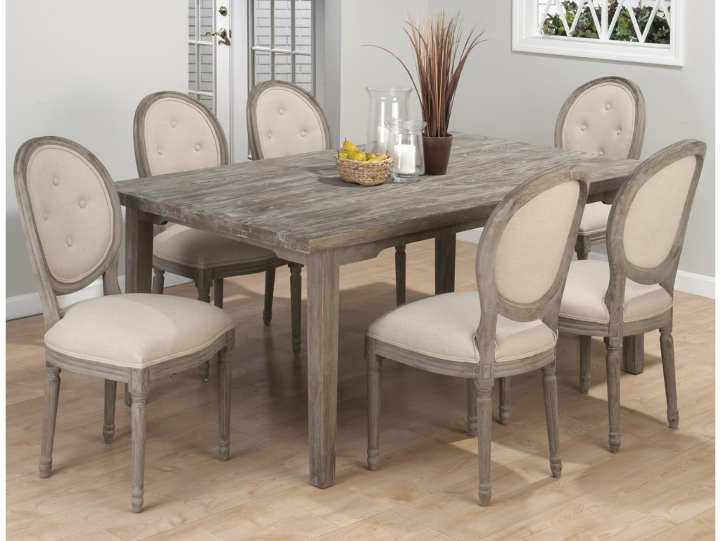 Jofran Burnt Grey7 Piece Dining Set