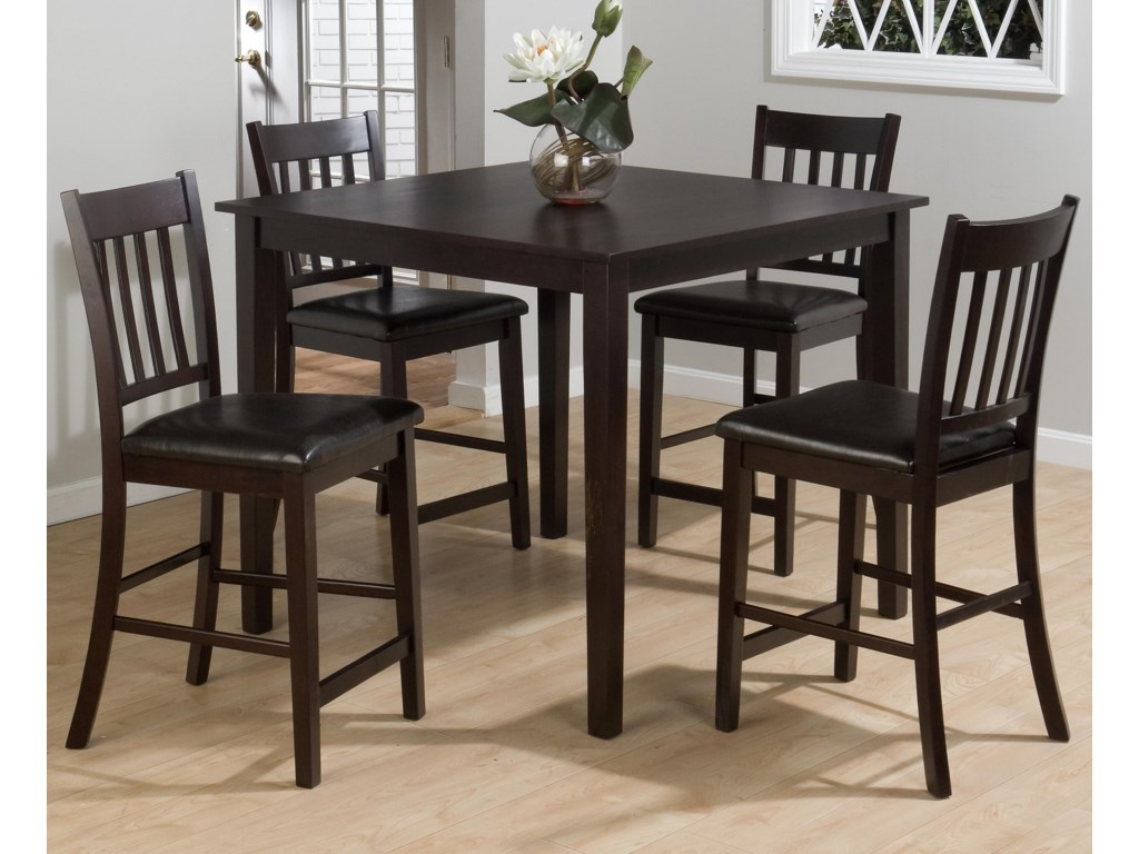 Jofran Marin County Merlot5-Piece Pub Table Set