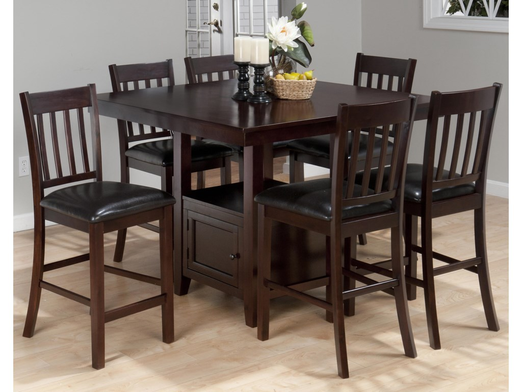 Jofran Tessa Chianti7-Piece Counter Height Table Set