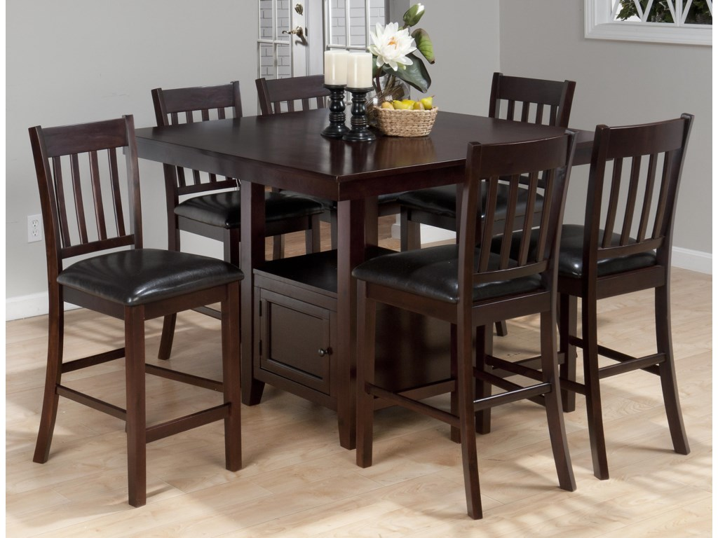 Shown in 7-Piece Counter Height Set
