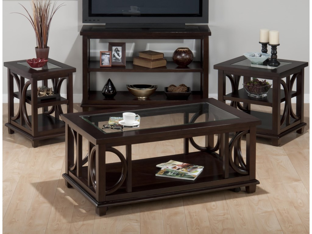 Shown with Coffee Table, Chairside Table, and Sofa Table