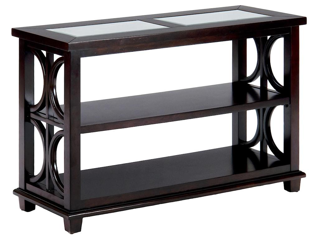 Jofran AdrianSofa Table w/ Glass Top