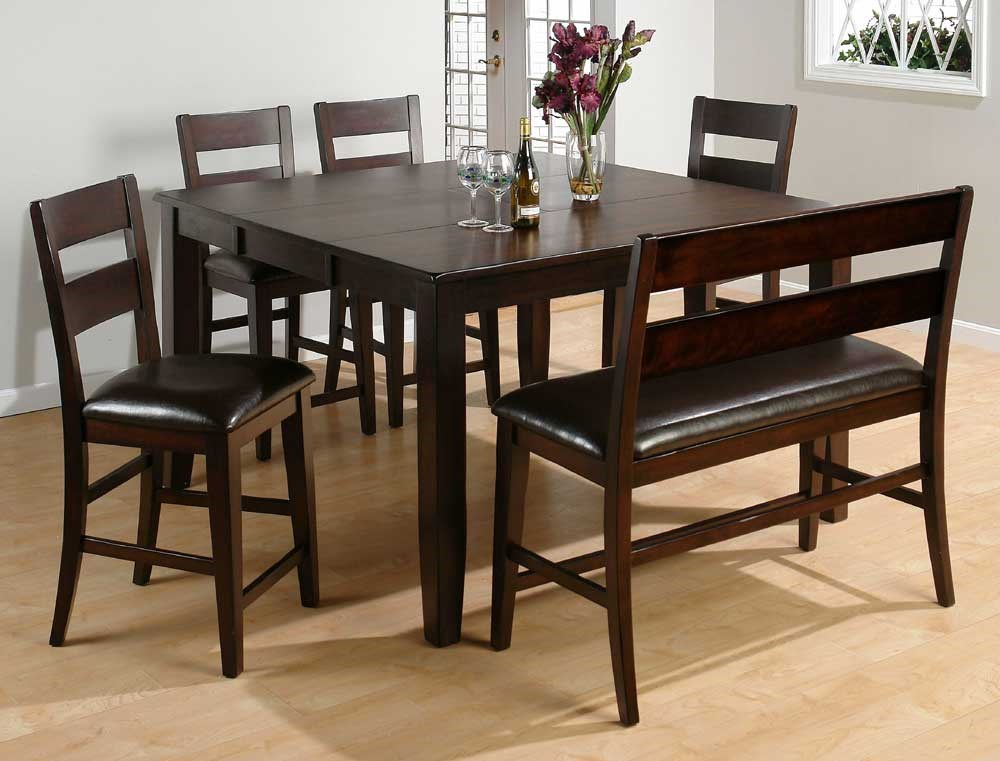 Shown in 6-Piece Counter Height Dining Set