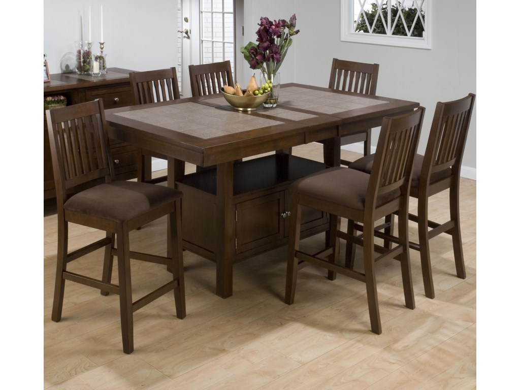 Counter Height Table Shown with Stools