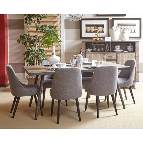 Jofran American Retrospective Dining Table And Chair Set Pilgrim Furniture City Dining 7 Or