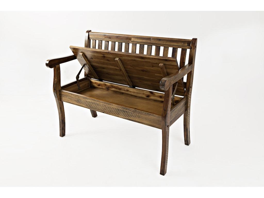 Jofran Artisan's CraftStorage Bench