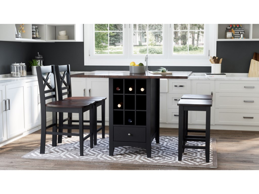 Jofran Asbury Park5-Piece Counter Height Table and Stool Set