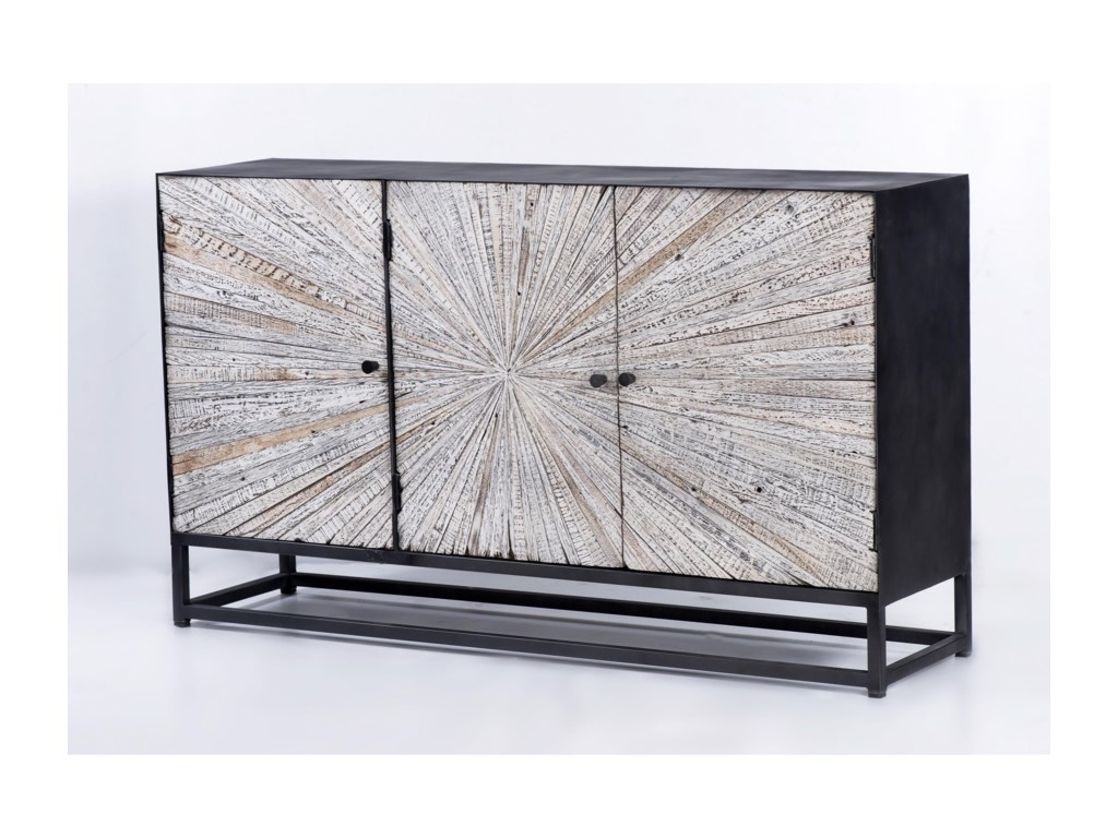 Jofran Astral PlainsReclaimed 3 Door Accent Cabinet