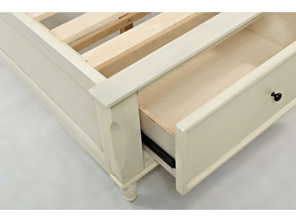 Jofran Avignon YouthQueen Storage Bed