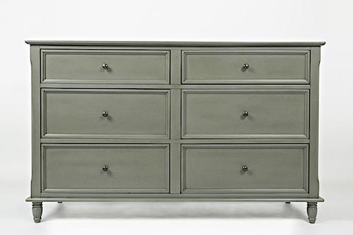 Jofran Oakley: Grey Double Dresser