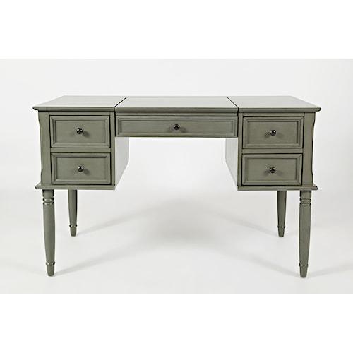 Jofran Oakley: Grey Flip Top Desk