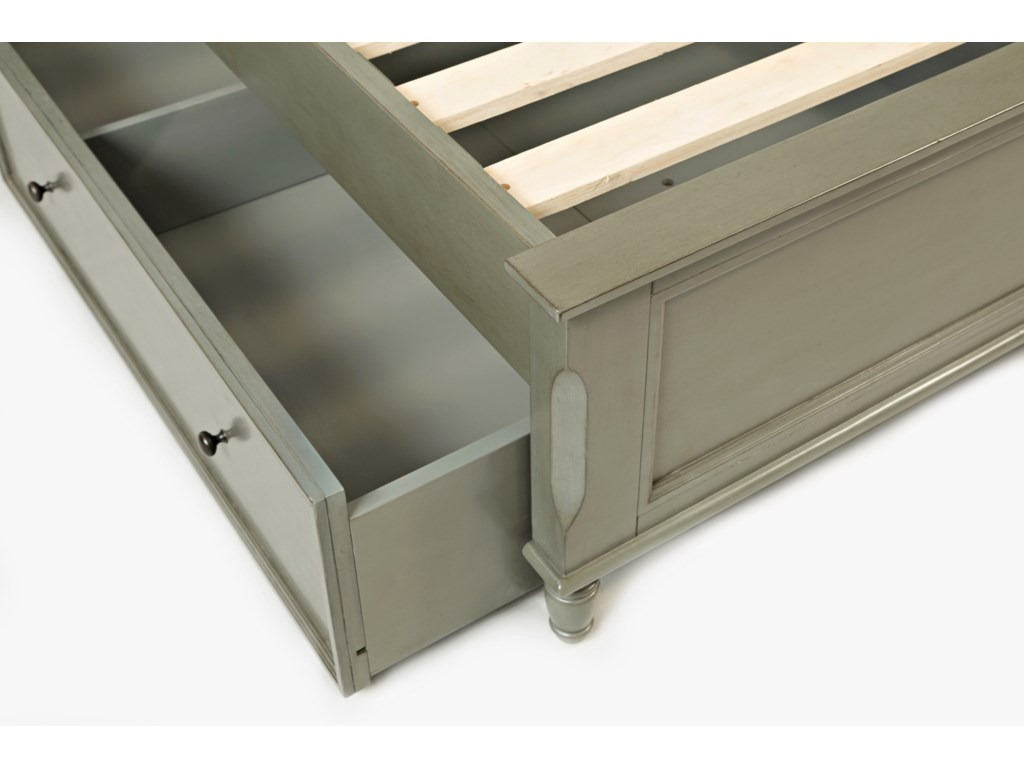 Jofran Avignon YouthTwin Panel Bed with Trundle Bed