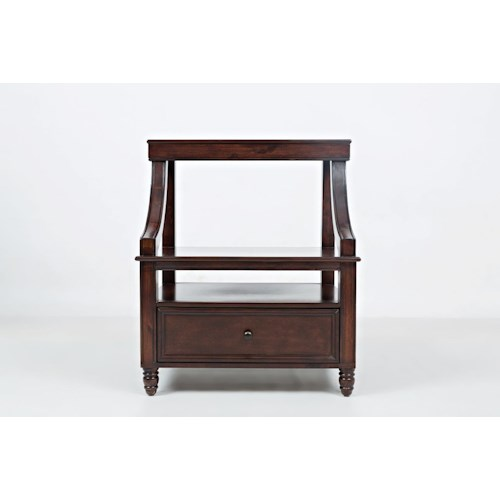 Jofran Boden: Cherry Step Up Nightstand