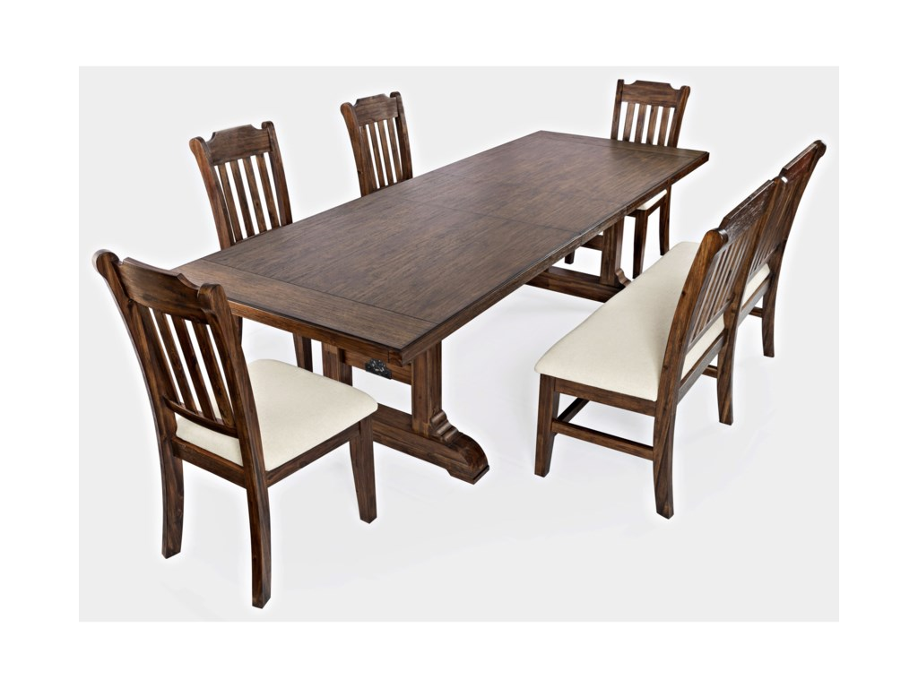 Jofran Bakersfield6-Piece Dining Table and Chair Set