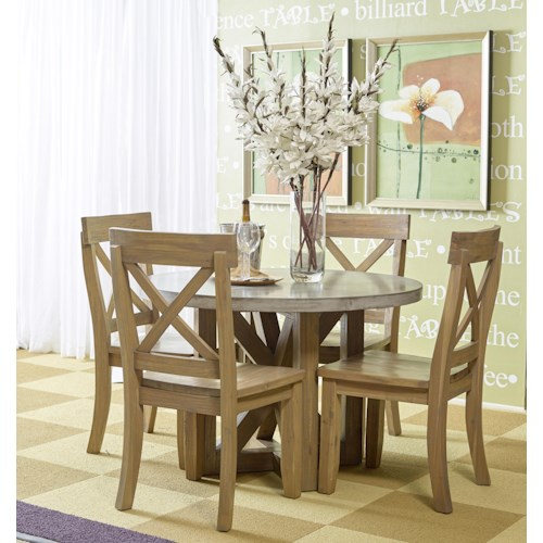 Jofran Boulder Ridge Round Kitchen Table Set