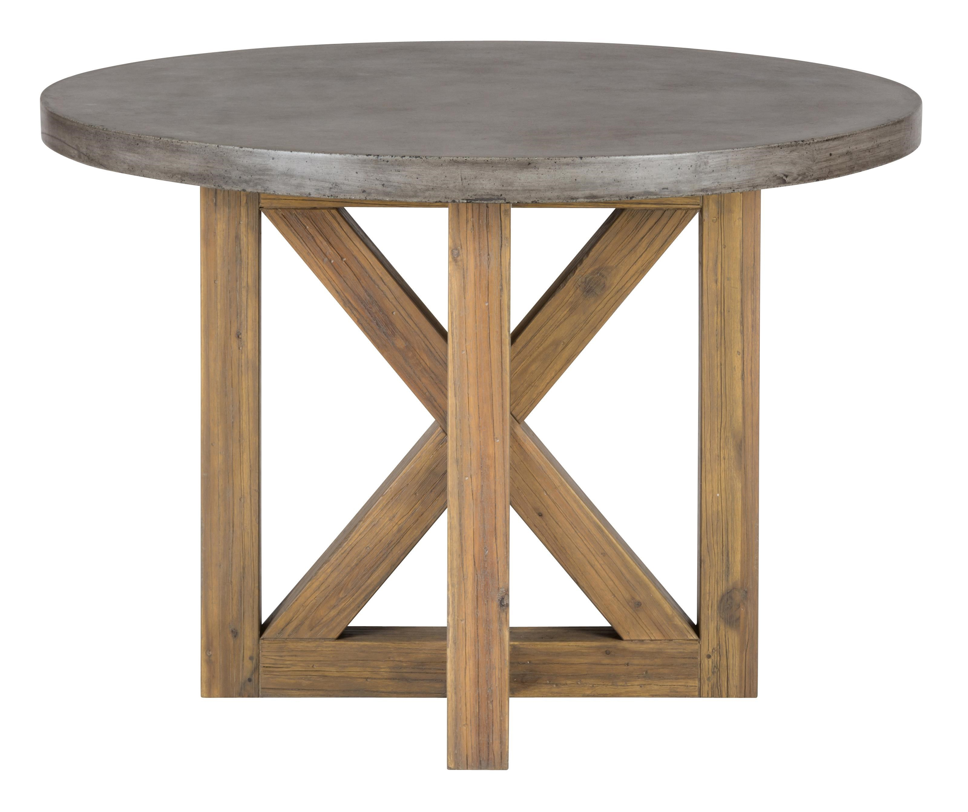 Jofran Boulder Ridge Concrete Dining Table  Round   Virginia Furniture  Market   Kitchen Table