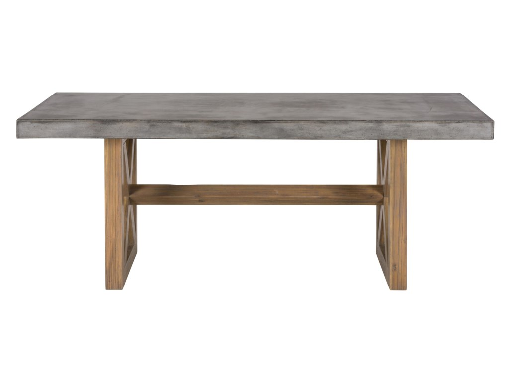 Jofran Boulder Ridge 757 78t B Concrete Dining Table Rectangle Furniture And Liancemart Room