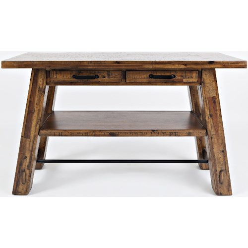 Jofran Cannon Valley Trestle Sofa Table
