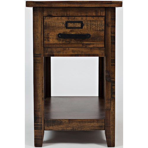 Jofran Cannon Valley One Drawer Chairside Table