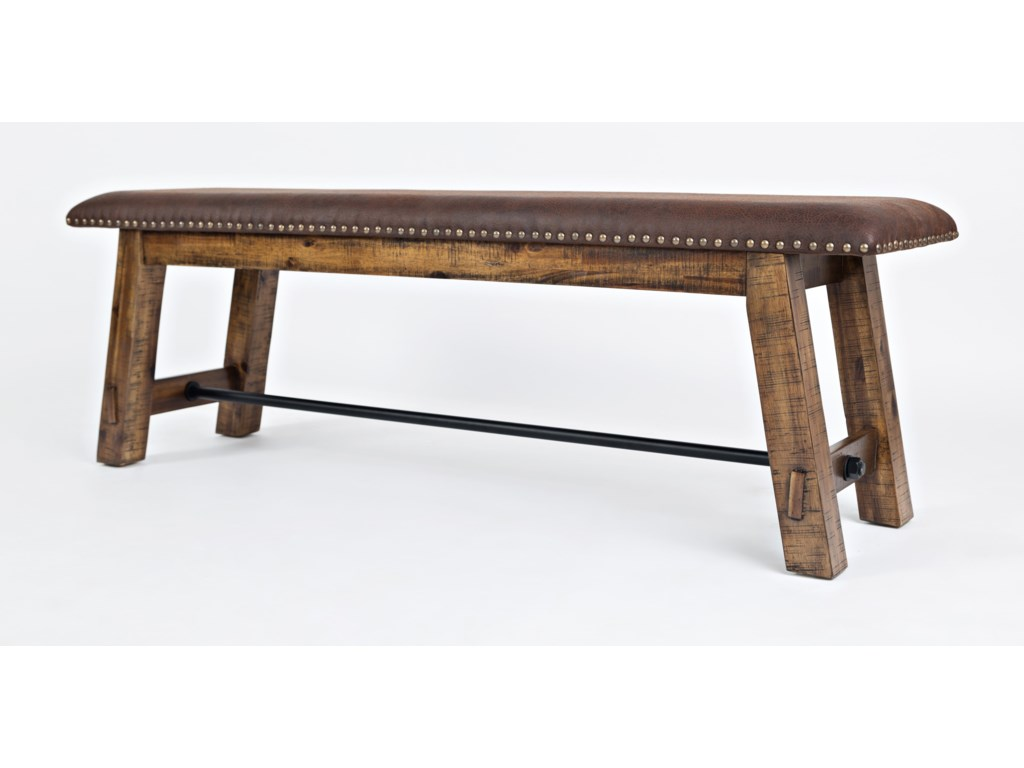 Jofran Cannon ValleyBench with Upholstered Seat