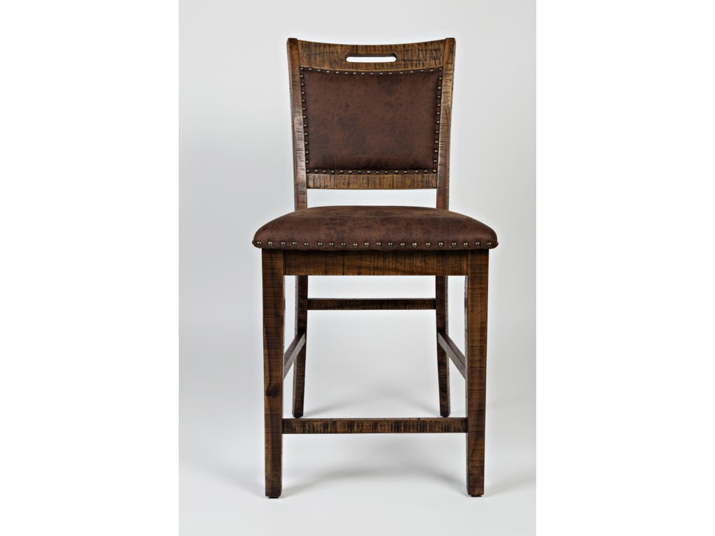 Jofran Cannon ValleyUpholstered Back Counter Stool