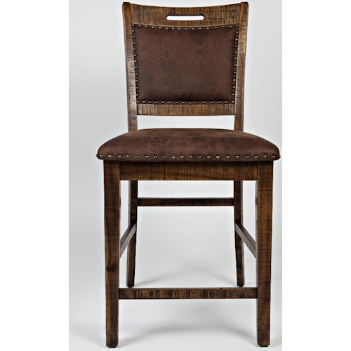 Jofran Cannon Valley Upholstered Back Counter Stool Boulevard Home