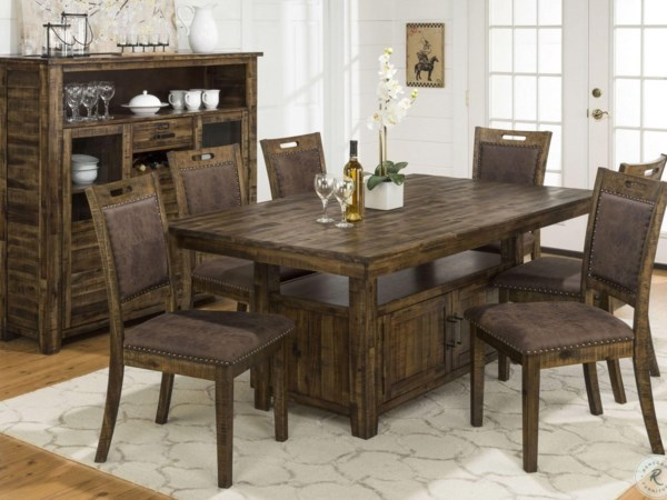 All Wood Table & 6 Chairs