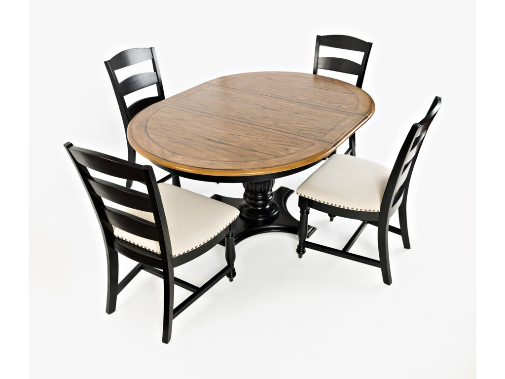 Jofran Castle HillRound To Oval Pedestal Dining Table