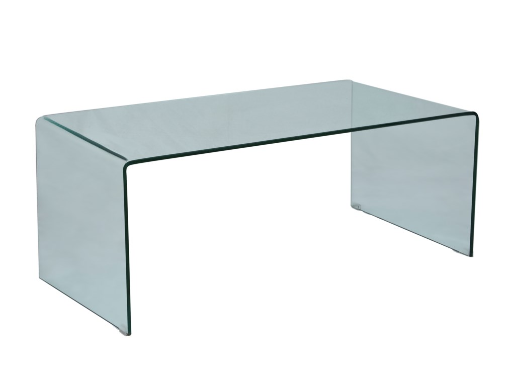 Jofran ClarityBent Glass Cocktail Table